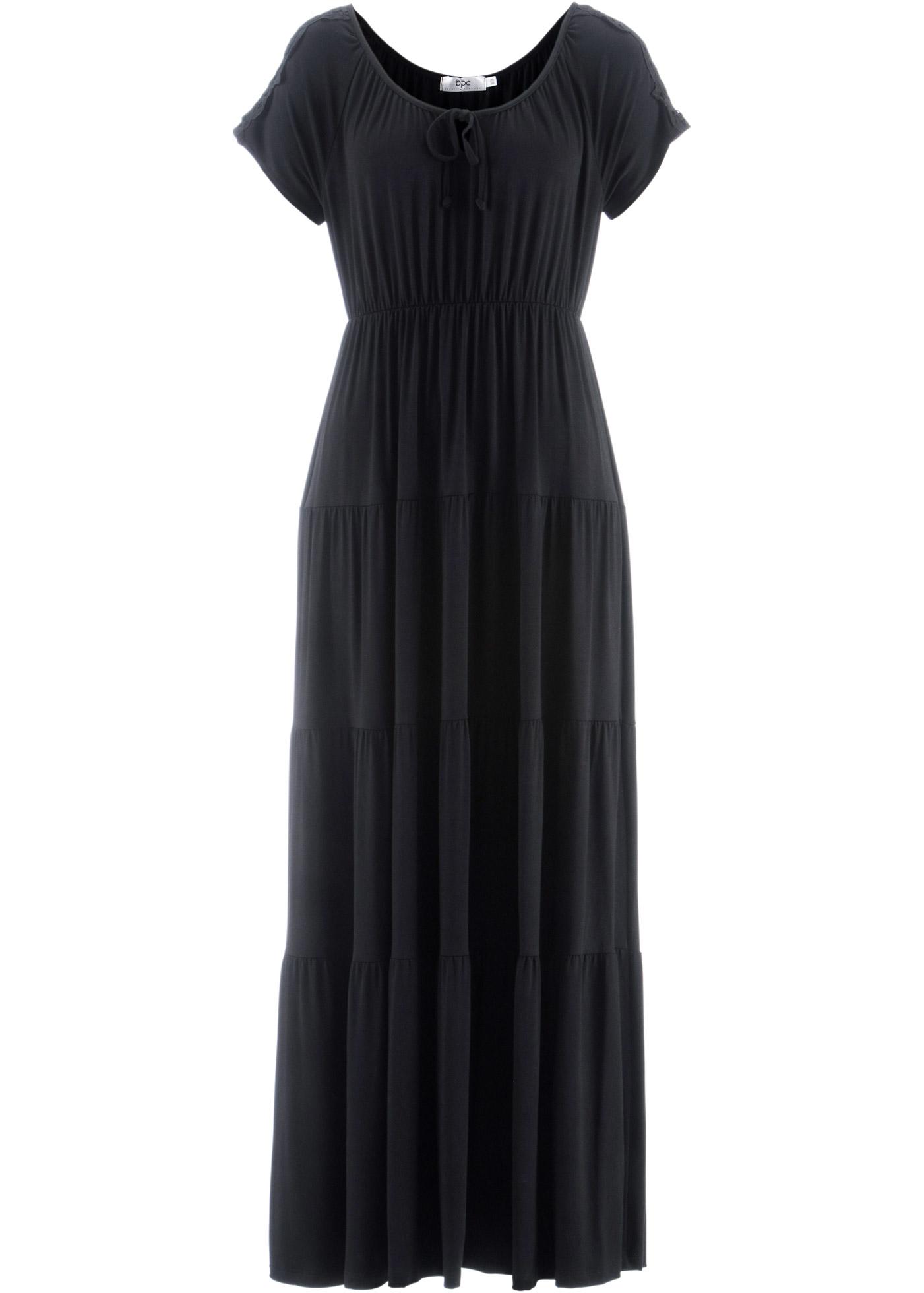 bpc damen feminines kleid mit spitzendetails in schwarz. Black Bedroom Furniture Sets. Home Design Ideas