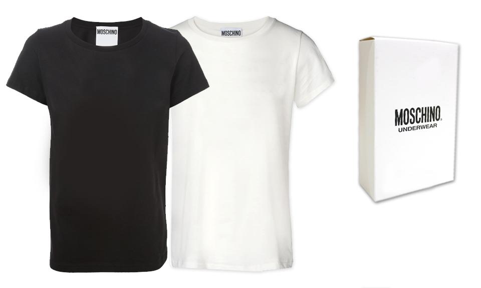 M ANGEBOT Moschino Underwear Tank Top T shirt Herren Weiß A1905 8133 1 Gr