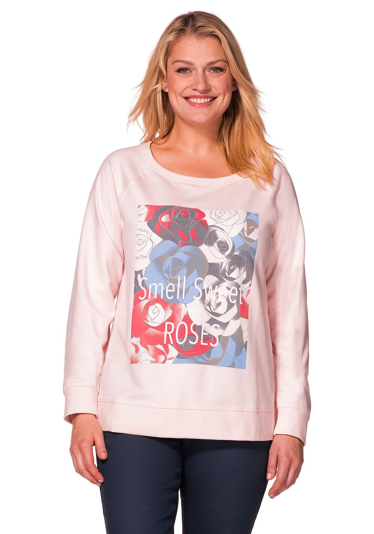 sheego damen sweatshirt shirt langarm top oberteil. Black Bedroom Furniture Sets. Home Design Ideas